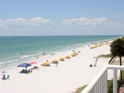 Photo for Dolphins say don't miss this one-81' wrap-around balcony, view Gulf.