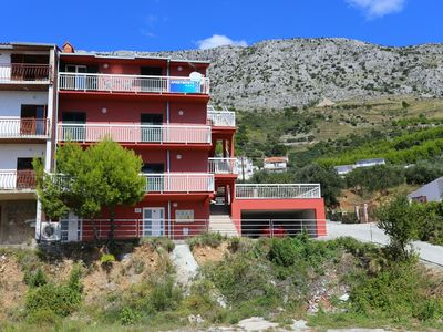 Photo for Three bedroom apartment with balcony and sea view Stanići (Omiš)