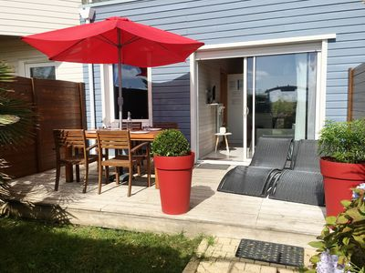 Photo for Small 3-star house for 2 people heated pool, Le Conquet