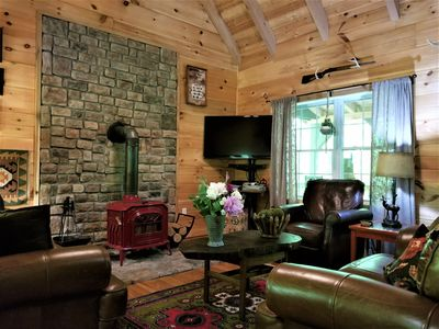 Photo for Refined lodging,upscale retreat,cozy,inviting, mountain streams,140+ all 5 Star