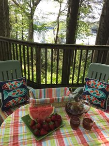Iced tea and watermelon on the deck- gotta be Summertime on the lake!