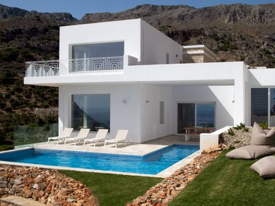 Photo for Stylish and contemporary 3 bedroom villa, with large pool and stunning sea views