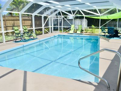 Photo for Private Heated Pool Home. Walk or bike to Shamrock Park and close to the beaches