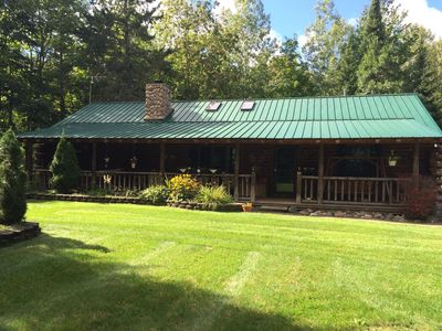 Secluded Log Cabin for the Perfect Snowmobile Getaway- North Central State Trail