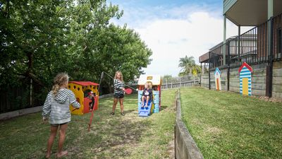 Keep the kids entertained in the secure yard