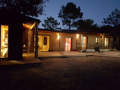 Photo for Wooden House 8 / 9p 4ch forest, beach 800m - Furnished 4 stars Tourism