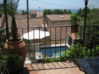 Photo for Charming house completely renovated, sea view, pool and garden