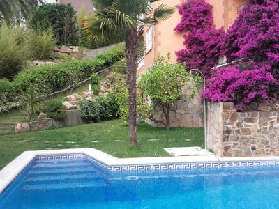 Photo for Calonge - Luxury villa 7 pers., sea view, large pool, BBQ, quiet location
