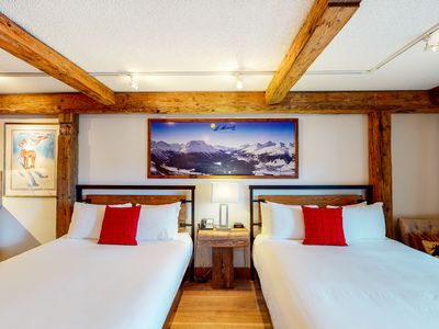 Photo for Ski-in/ski-out budget-friendly room w/shared hot tub, pool, gym - walk to lifts!