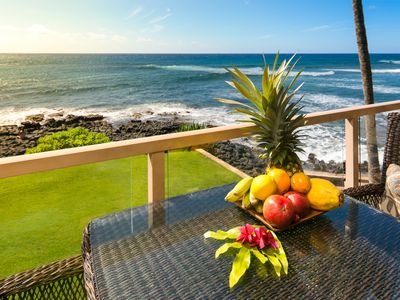 Photo for Breathtaking Oceanfront Home - Walls of windows on famous surf and sunset