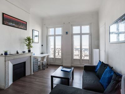 Photo for Flat w/ balcony in front of the sea close to Marseille Old Port - Welkeys