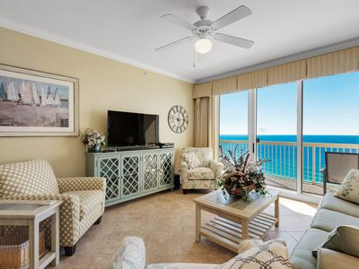 Photo for FREE Beach Chair Service - Calypso 2BR +Bunk Room Beach Front Condo at Pier Park