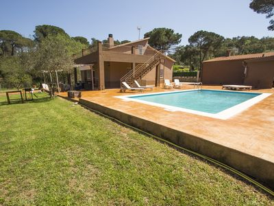 Photo for Catalunya Casas: Spacious Villa Malavella for 8, just 12km to Costa Brava beaches!