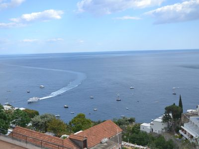 Photo for Positano Center - Terrace overlooking the sea, -  2 bedrooms - AC and WiFi free
