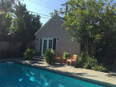 Photo for Charming and Peaceful garden Pool House/Studio Mid Wilshire