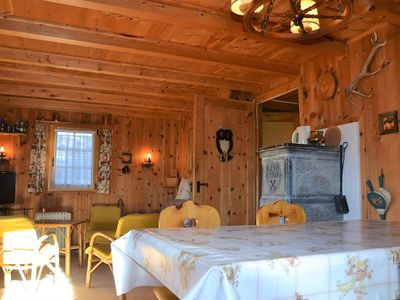 Photo for Outside : chalet for 5 person, balcony and terrace with garden furniture, beautiful view -Inside : a