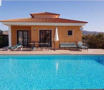 Photo for 3 bed villa with private solar heated covered pool 6m x 12m sleeps 6 free wifi