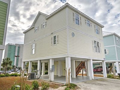 Photo for Myrtle Beach House w/Balconies - 1 Block to Beach!