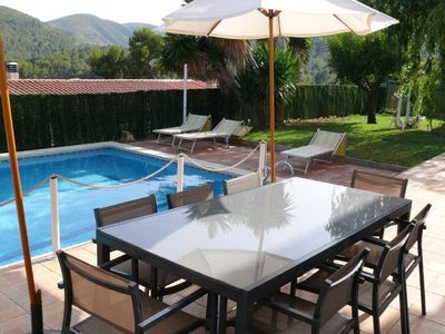 Photo for Barcelona Sitges 7 bedrooms pool 12 meters Ideal families and holidays