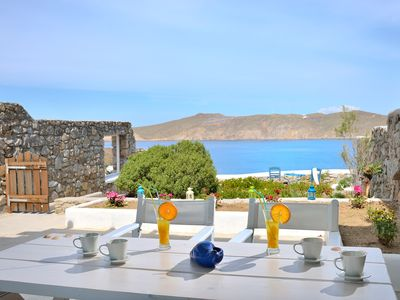 Photo for Villa Talia Mykonos, at one of the best beaches, 3 Bedrooms, Private Pool, Up to 6 Guests A perfect place to relax and enjoy a wonderful staying