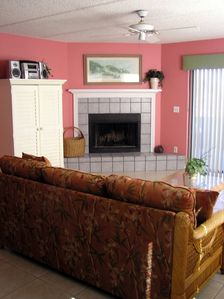 Living area - St. Augustine, Florida Ocean Front Condo.  Pet friendly.