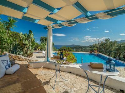 Photo for Own Pool, large garden, sea view, wifi | holiday house Zakynthos, Ionian Islands