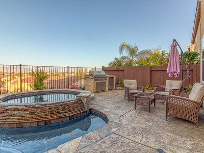 Photo for Stunning dog-friendly home with private pool and hot tub - lovely views!