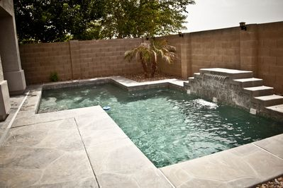 Beautiful Private Pool (Not Heated) with waterfall!