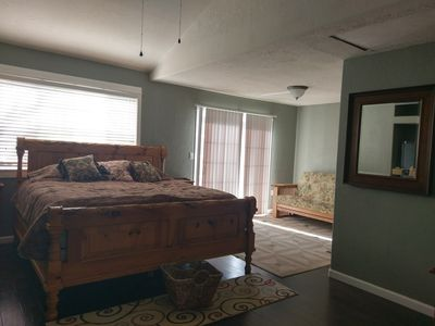 Master Suite w King Bed and Futon Sofa