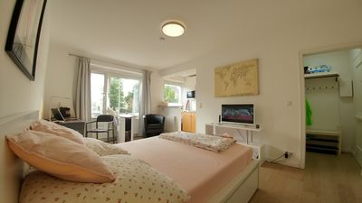 Photo for Central location, facing the city park. Bright and cosy studio apartment.