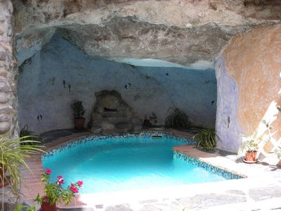 Photo for Self Catering in Style with solar heated Jacuzzi - Pool set in a Cave