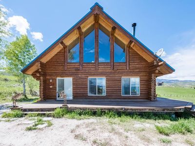 Photo for The Two Moose Inn - Luxury Log Cabin for Families!