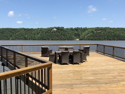 Photo for One Of A Kind Deck! Check out this view!