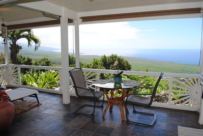 View from living room out to ocean.