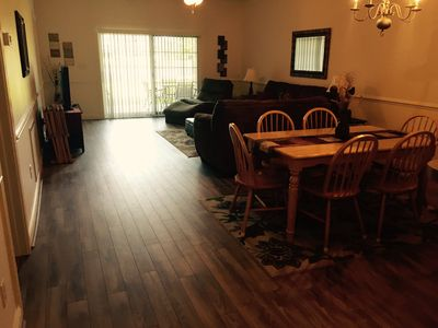 New flooring in the living room area