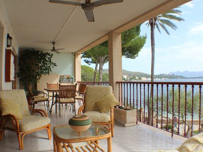 Photo for Three bedroom apartment on the Pine Walk with superb views. WIFI and Air Con