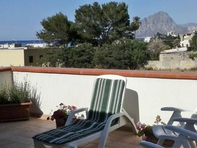 Photo for Elegant villa on the sea with private garden and panoramic terrace