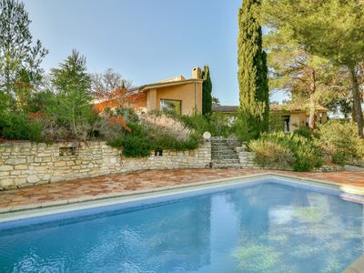 Photo for In the heart of vineyards in Provence Architect house near Avignon