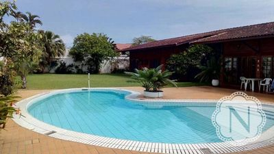 Photo for Beautiful beach house near the beach with pool and lawn