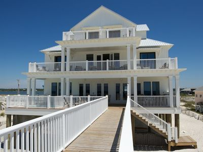 The Veranda - view of the beach side and its 3 fantastic decks.