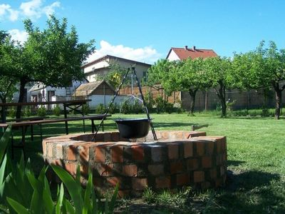 Holiday house with garden and barbecue