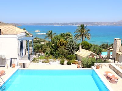 Photo for 3 Bedroom Villa , infinity pool, stunning sea & mountain views, close to beach.