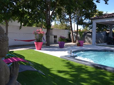 Photo for New villa standing 8/9 pers. 3 bd 2 bath private pool near sea and beaches