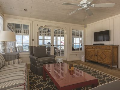 Living Room with Access to Screened Porch