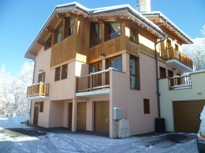 Photo for Detached 4 Bed Boutique Style Chalet,Sauna and Hot Tub Gorgeous Mountain Views