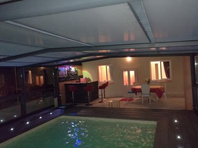 Photo for Villa with pool enclosures backed the villa