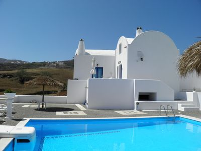 Photo for LAVA, ground floor traditional Cycladic  suite with mezzanine with shared pool.
