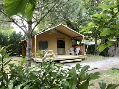 Photo for Safari Tents - Glamping tent ANGELES Plage at Sea - Beach - Camping with pool