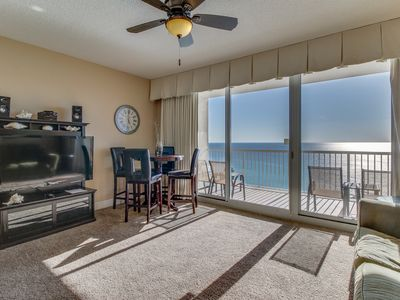 Photo for Sunny beachfront condo w/ incredible ocean view, heated pool, hot tub, & more!