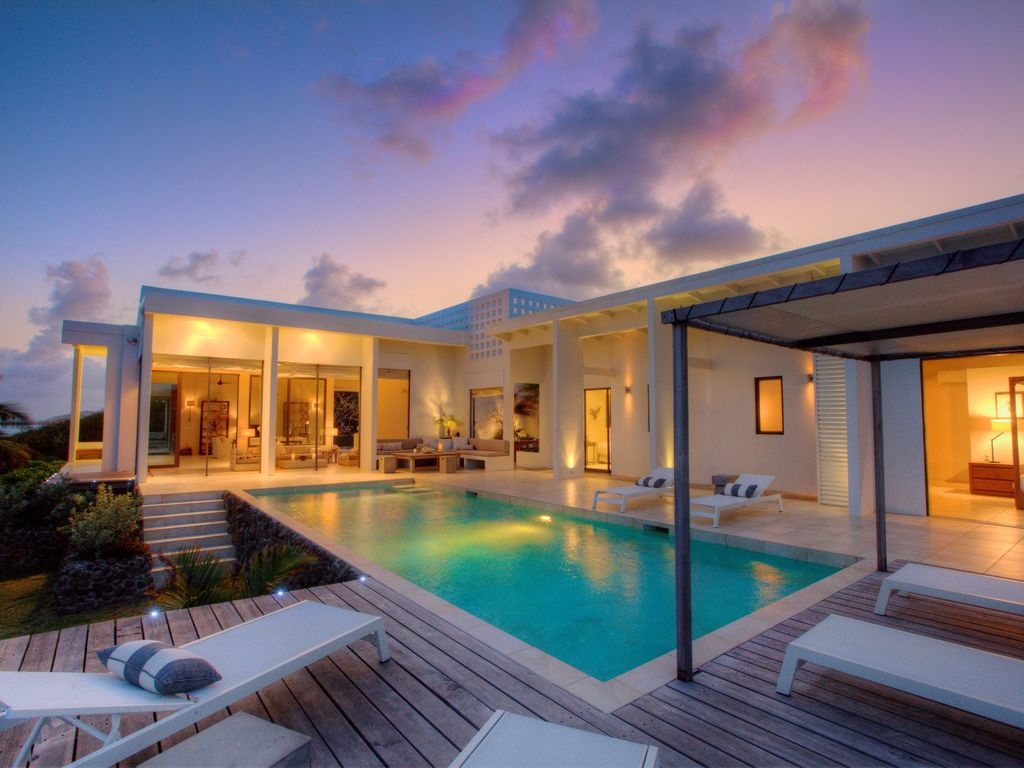 luxury caribbean villa on the sea in unspoilt - homeaway